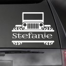 "JEEP PERSONALIZED Decal, CAR,TRUCK/ Window sticker! 4.5"" x 6""  JEE-00006"