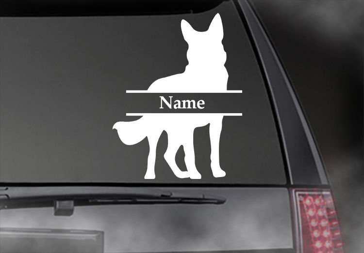 "German Shepherd - Custom Name Decal! Car, Truck, Window!!  Appx Size 6"" X 4.5"""