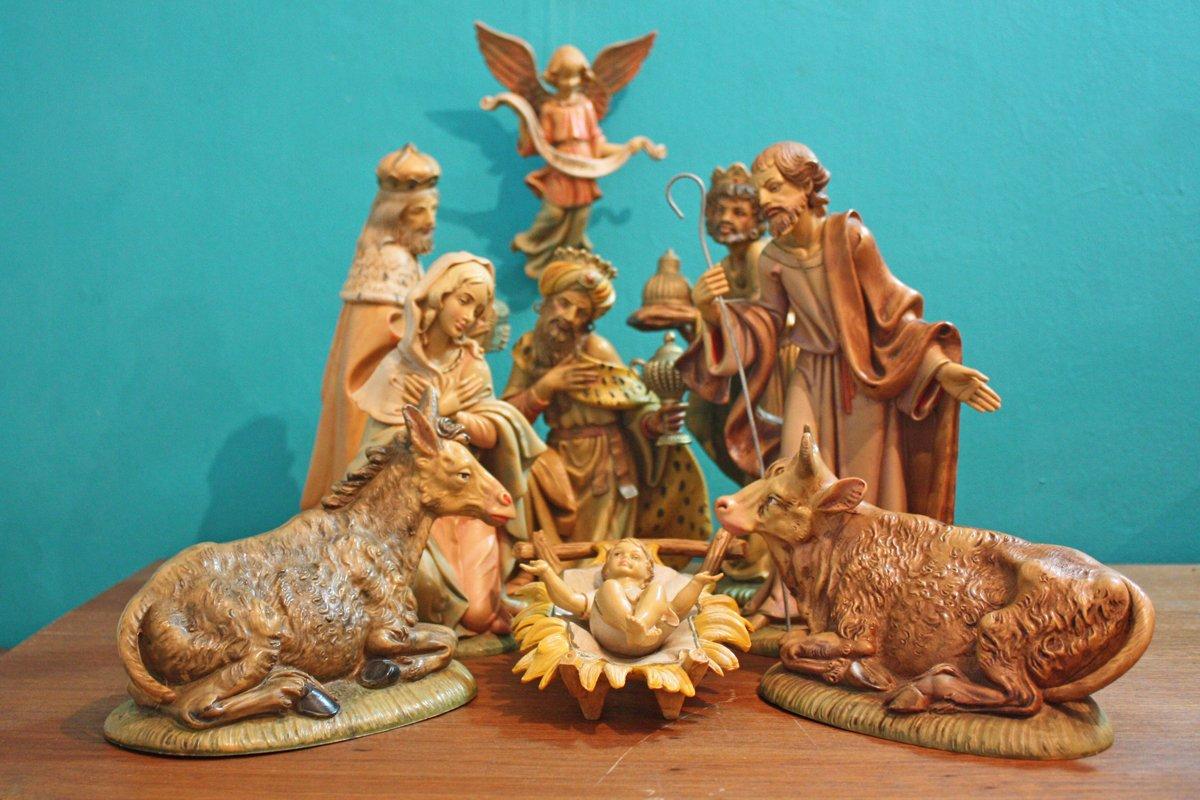 """1o Piece Multi Color Religious Christmas Nativity Figurine Set 12"""""""
