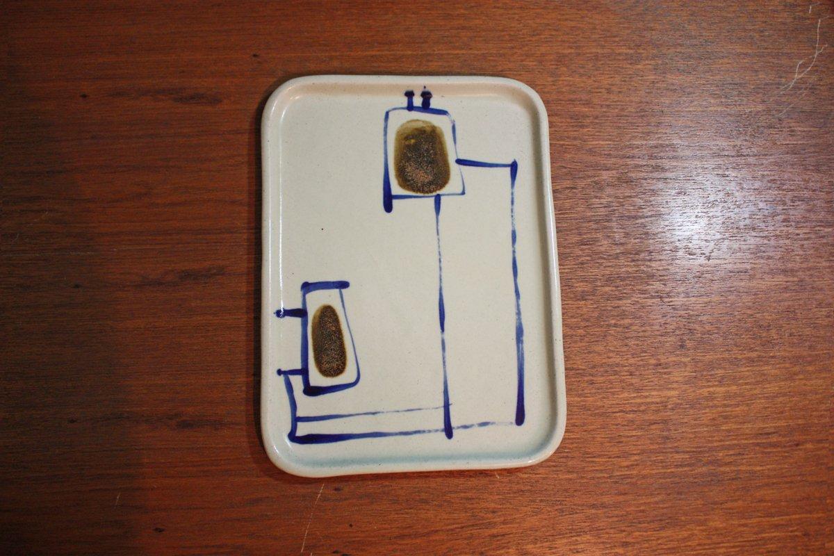 Stoneware ceramic tray