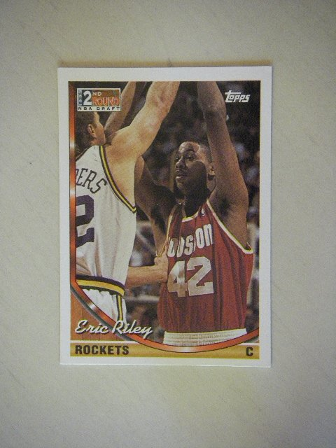 1994 Topps 1993 2nd Round NBA Draft Eric Riley Rockets #310