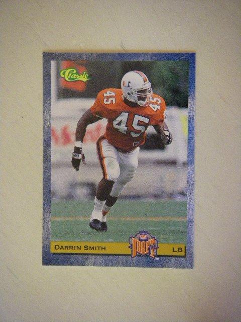 1993 Classic NFL Draft Darrin Smith #82