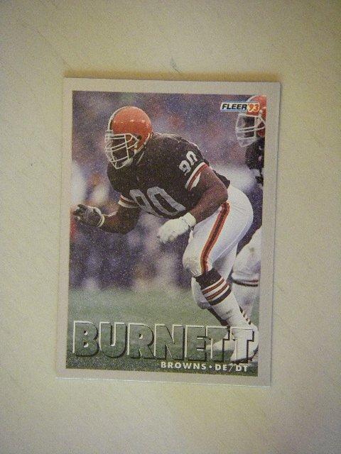 1993 Fleer Rob Burnett Cleveland Browns #164