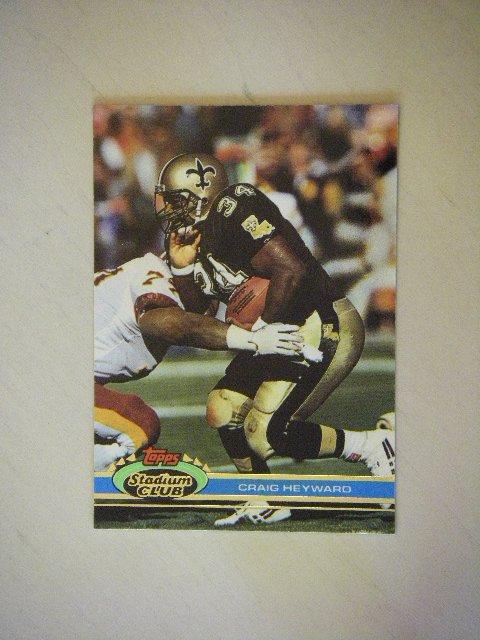 1991 Topps Stadium Club Craig Heyward New Orleans Saints #480