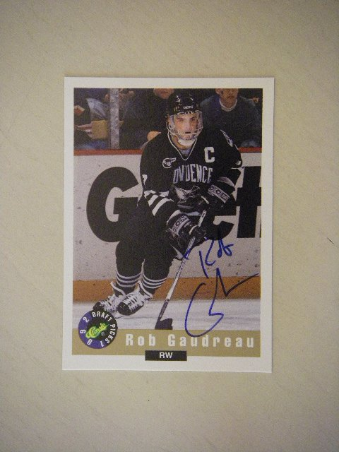1992 Limited Classic Autograph Card Draft Picks Rob Gaudreau