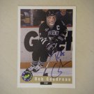 1992 Limited Classic Autograph Card Draft Picks Rob Gaudreau