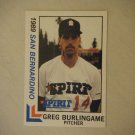 1989 San Bernardino Official Spirit Cards Greg Burlingame #5