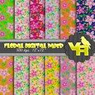 Floral digital paper pack - DP002