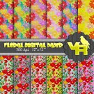 Digital Scrapbook - Floral scrapbook paper DP003