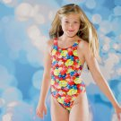 Maru Kids Girls Blue Swimsuit Bathsuit Swimming Suit Costume Swimwear