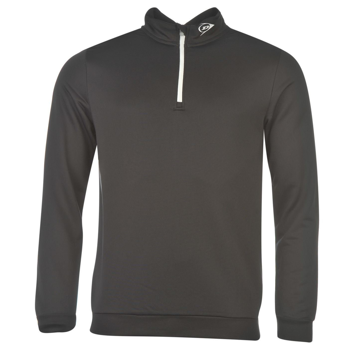 Dunlop Mens Quarter Zip Golf Pullover Long Sleeve Top Lightweight Elasticated