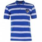 Team Mens Stripe Polo Shirt Short Sleeves Football Tee Top