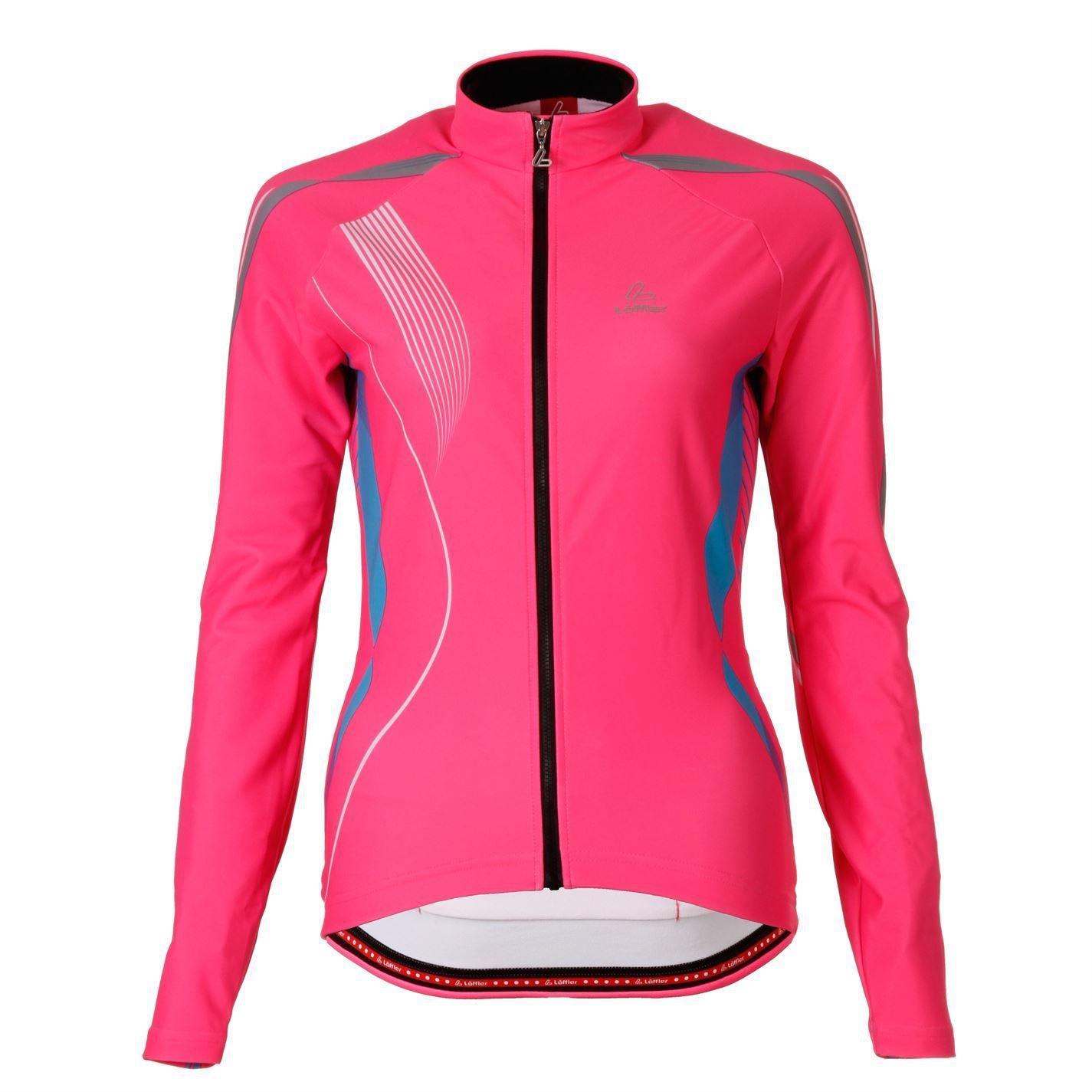 Löffler Womens FZ Jersey Ladies Long Sleeve Cycle Cycling Sports Shirt Top