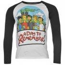 Band Tee Mens ADTR Raglan Long Sleeve Top T Shirt Crew Neck Printed