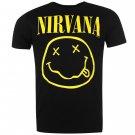 Official Band Merch Mens Nirvana Tee T Shirt Crew Neck Short Sleeve Top