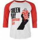 Official Band Merch Mens Day Raglan T Shirt 3/4 Sleeve Crew Neck Tee Top