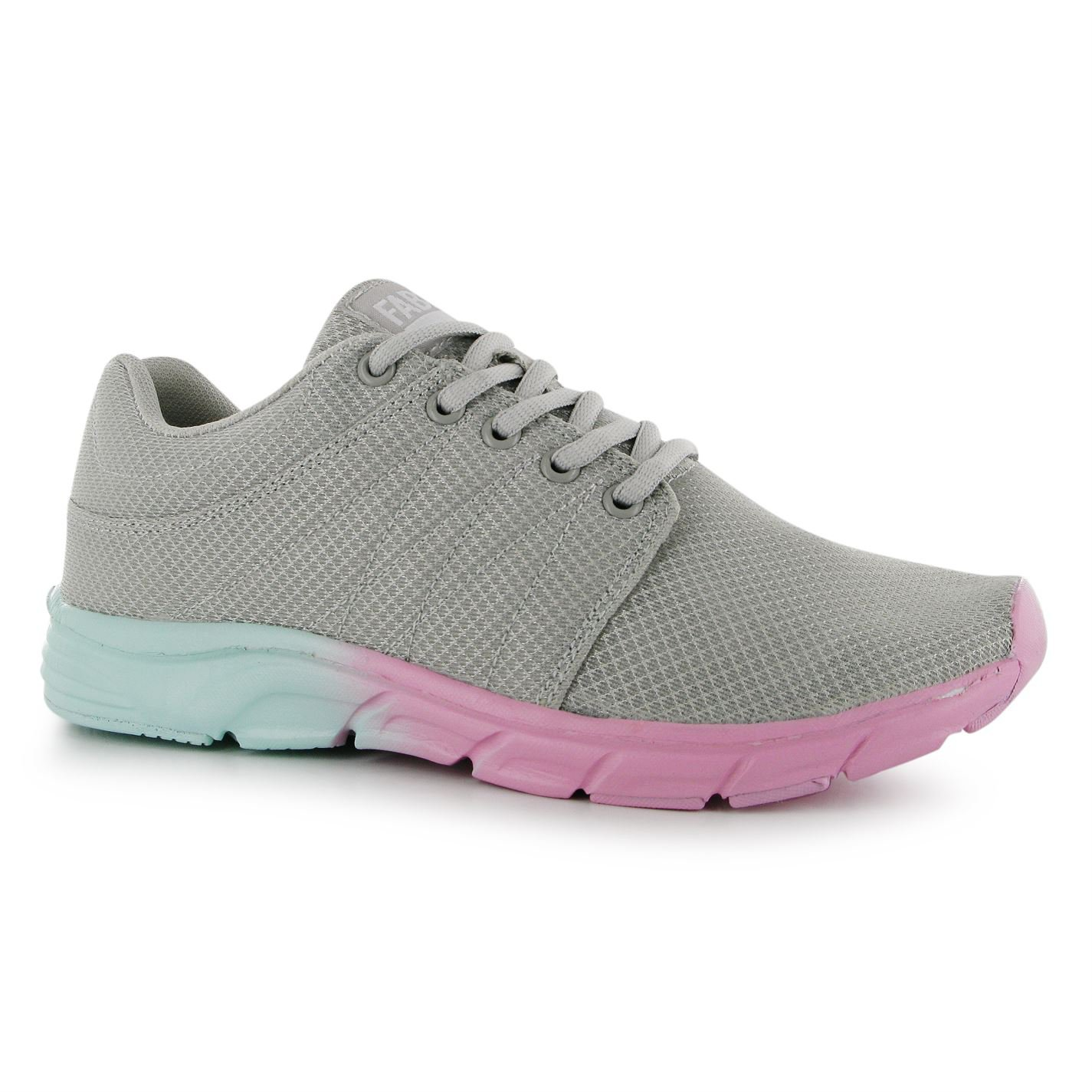Fabric Womens Ladies Reup Runner Trainers Lace Up Sports Shoes Footwear