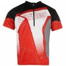 Löffler Mens Perform Jersey Zip Neck Short Sleeve Cycling T-Shirt Tee Top