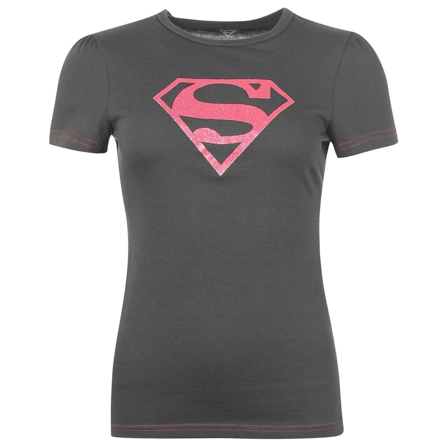 Superman Womens Ladies Tshirt Top Tee Crew Neck