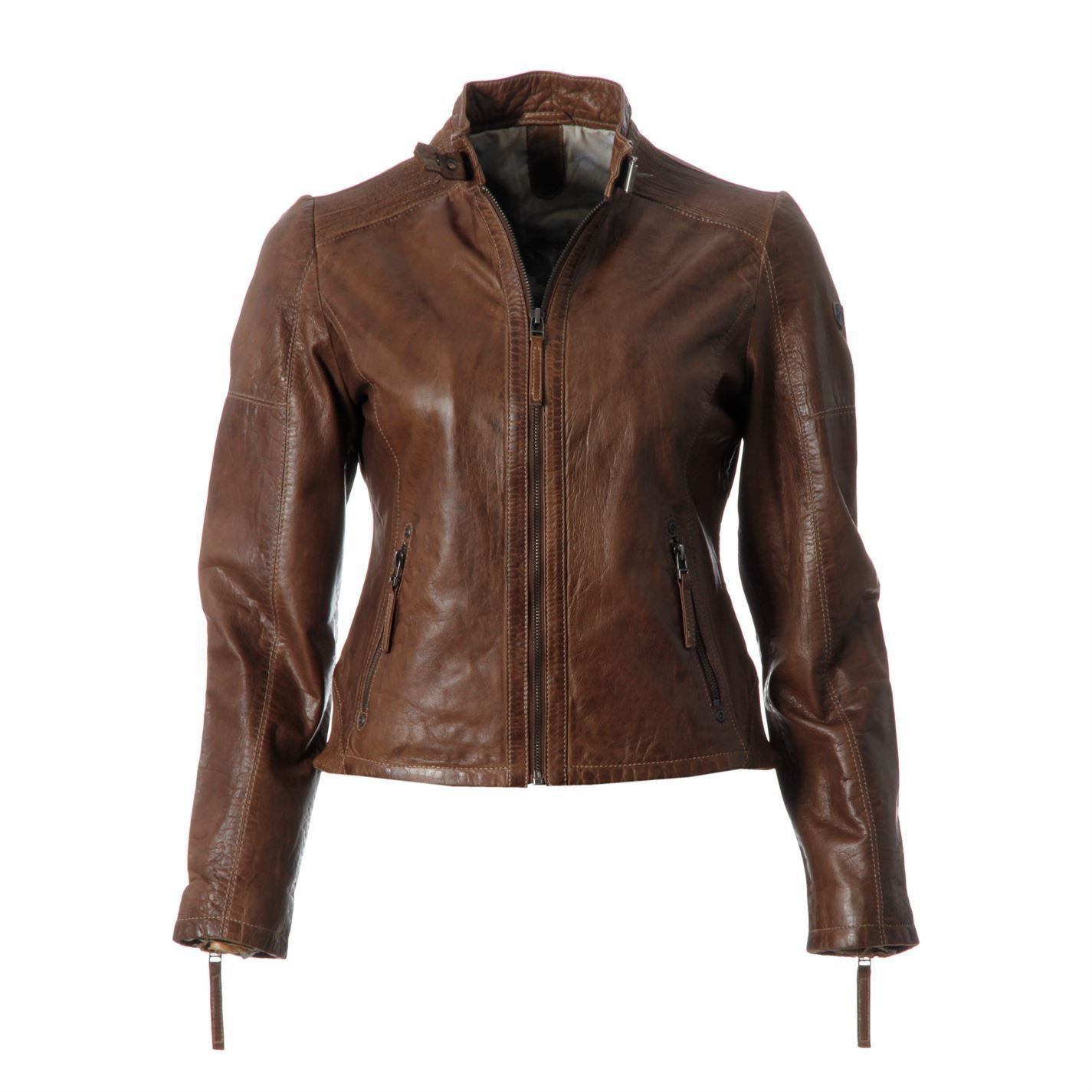 Gipsy Womens Leather Jacket Ladies Long Sleeve Full Zip Casual Outdoor