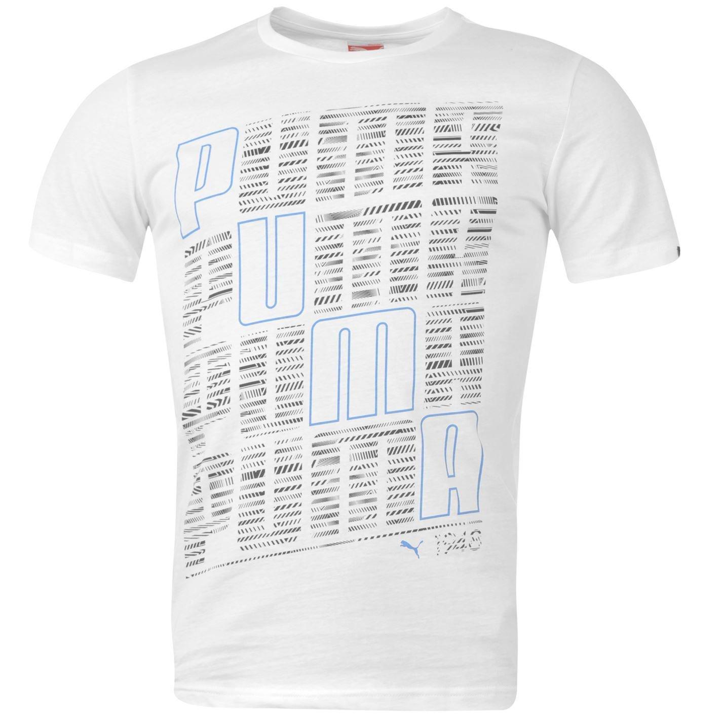 Puma Mens QTT Wording T Shirt Short Sleeve Crew Neck Tee Top Clothing Wear