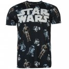 Star Wars Mens Episode 7 T Shirt Round Neck Short Sleeve Tee Top Clothing Wear