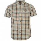 Helly Hansen Mens L ton Shirt Button Down Checked Short Sleeve Workwear Top