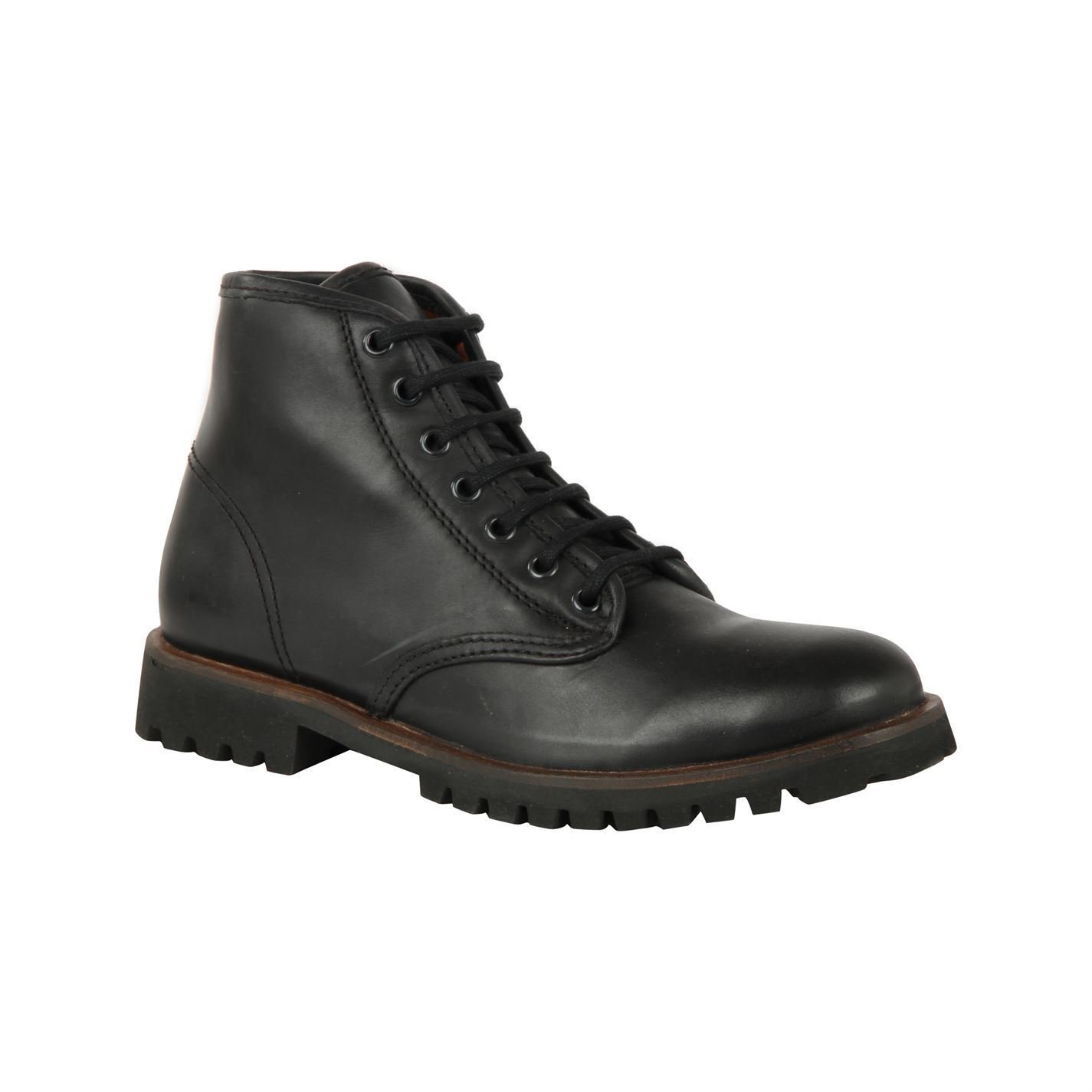 Frank Wright Mens Tidy 7 Eye Boots Platform Heel Gents Lace Up Casual Footwear