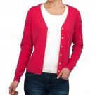 WoolOvers Ladies Cashmere and Merino Luxurious V Neck Cardigan Jumper Sweater