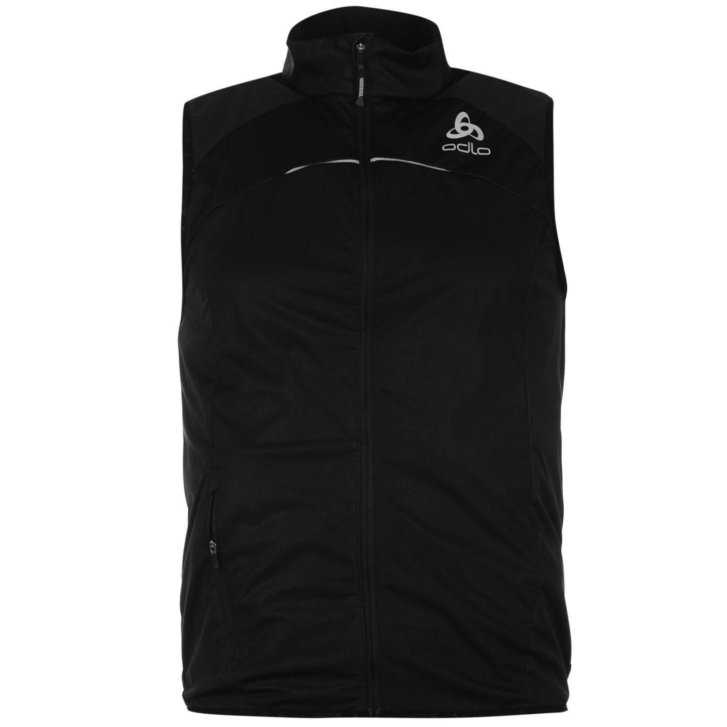 Odlo Mens Zero Gilet Jacket Coat Top Full Zip Fastening Windproof Clothing