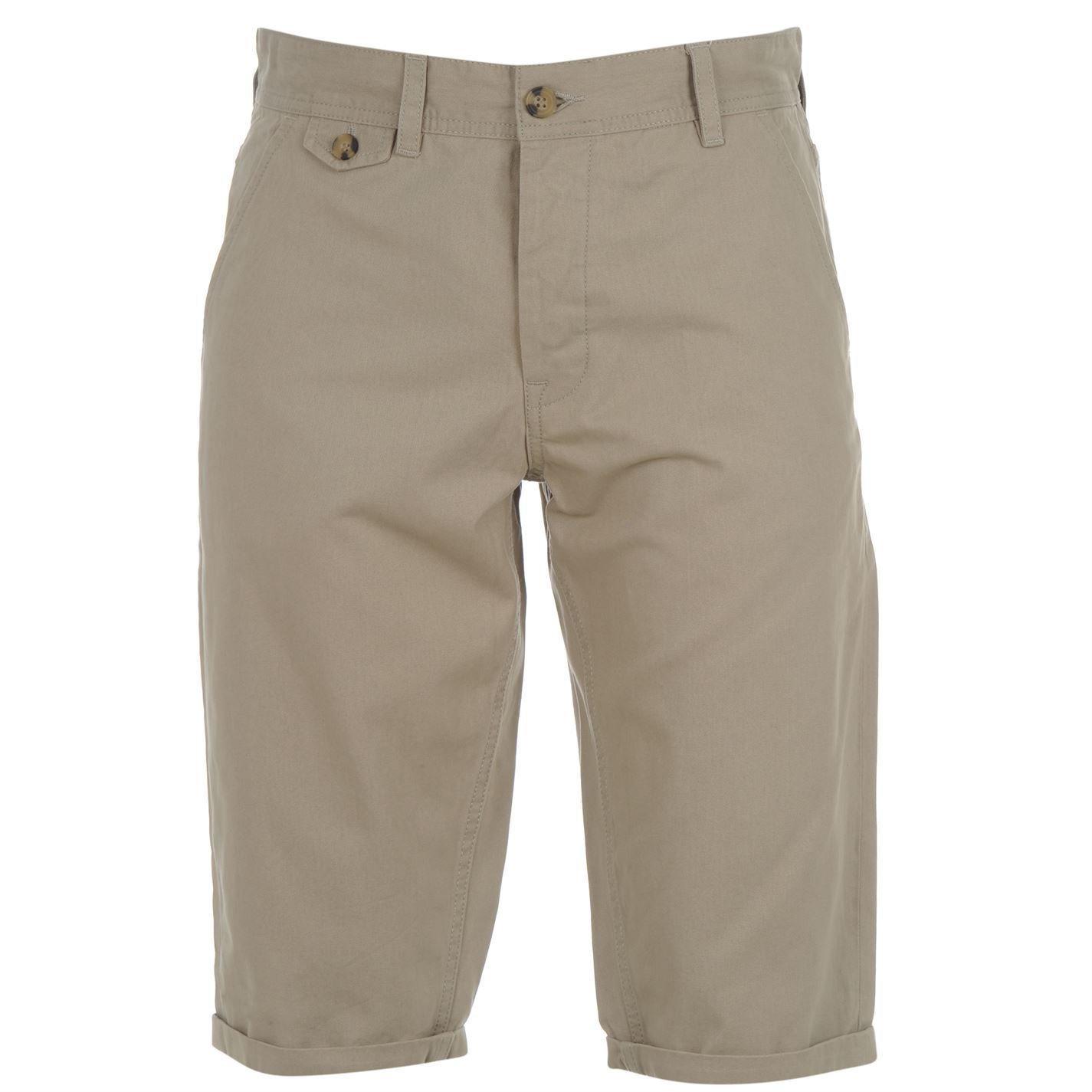 Kangol Mens Chino Shorts Pants Bottoms Belt Loops Clothing Wear
