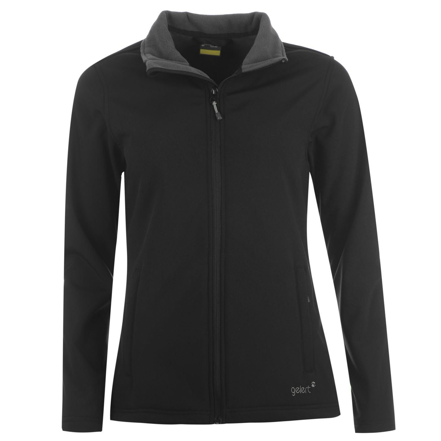 Gelert Womens Softshell Jacket Full Length Zip Pockets Inner Fleece Lining