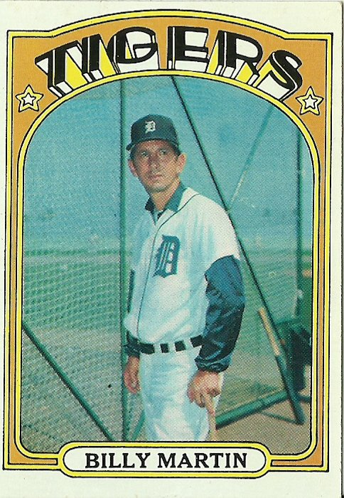 1972 Topps Billy Martin No. 33