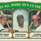 1972 Topps Willie Stargell, Hank Aaron, Lee May No. 89