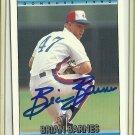 1992 Donruss Brian Barnes No. 117 Autograph