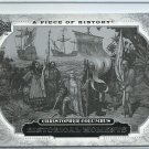 2008 Upper Deck A Piece of History Christopher Columbus No. 154