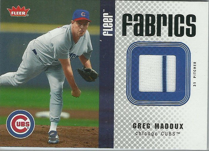2006 Fleer Fabrics Greg Maddux No. FF-GM Relic Card