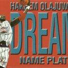 1999 Skybox Name Plates Hakeem Olajuwon No. 5 of 10