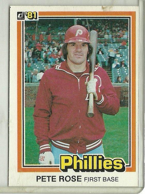 1981 Donruss Pete Rose No. 131