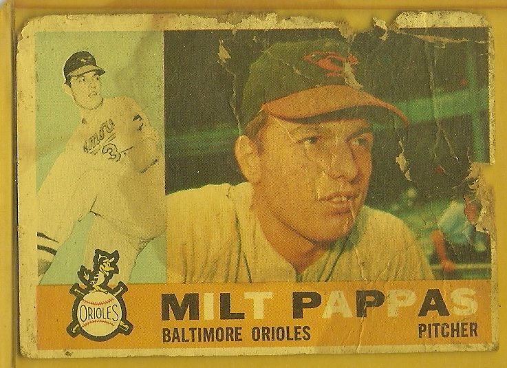 1960 Topps Milt Papas No. 12 (Damaged)