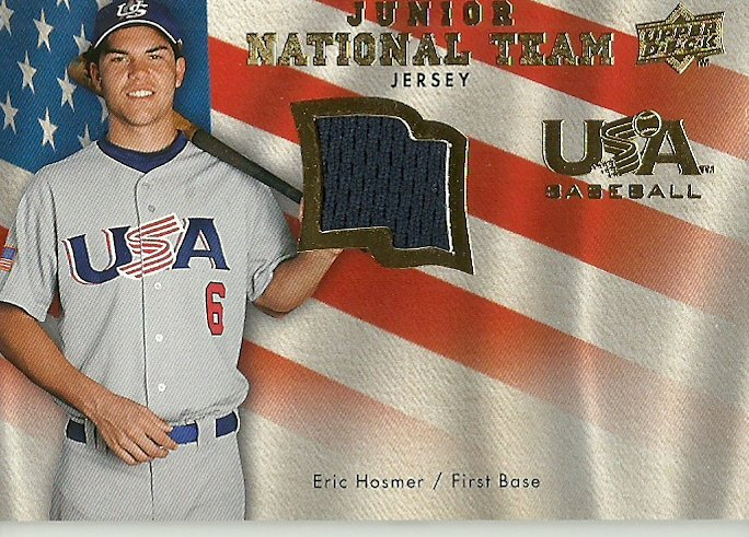 2008 Upper Deck Junior National Team Eric Hosmer No. USJR-EH RC Relic