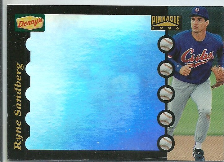 1996 Pinnacle Denny's Ryne Sandberg No. 9 of 28