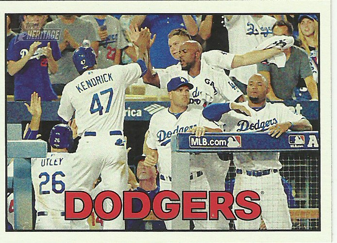 2016 Topps Heritage Los Angeles Dodgers No. 368