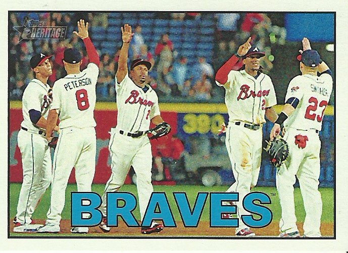 2016 Topps Heritage Atlanta Braves No. 356