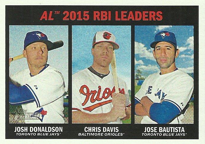 2016 Topps Heritage Josh Donaldson, Chris Davis, Jose Bautista No. 24
