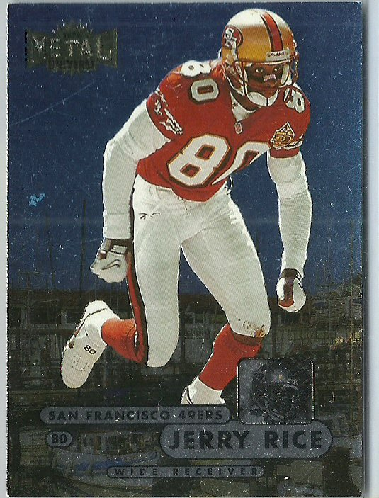 1998 Metal Universe Jerry Rice No. 1