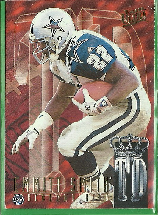 1995 Fleer Ultra Touchdown King Emmitt Smith No. 8 of 10
