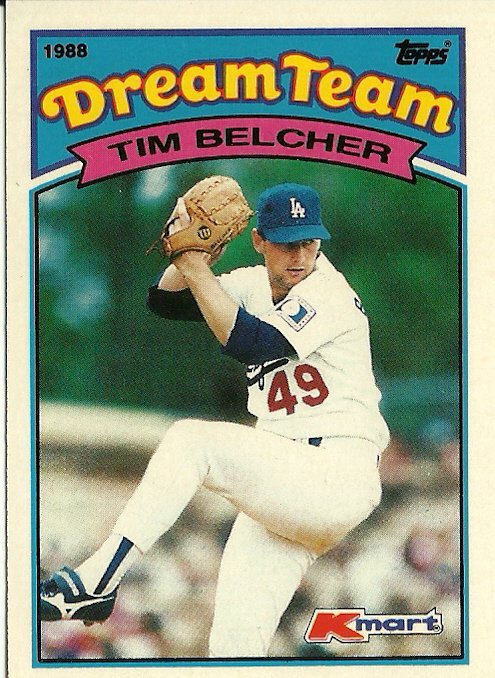 1988 Topps Kmart Dream Team Tim Belcher No. 9