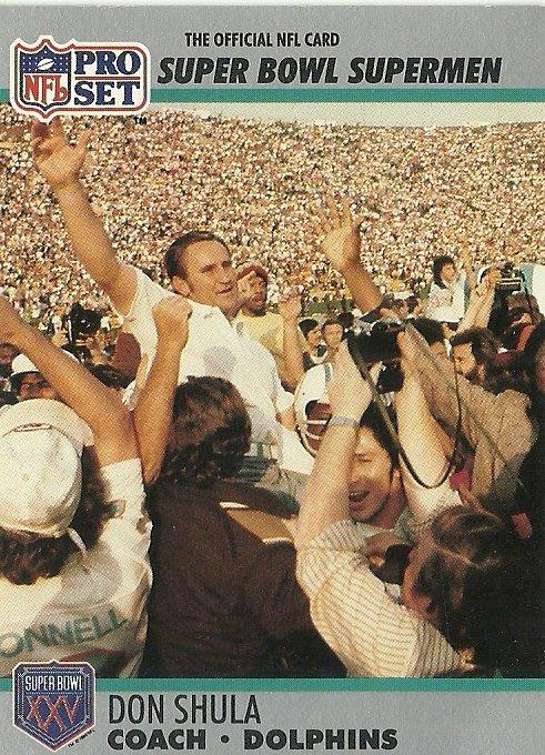 1990 NFL Pro Set All-Time Team Don Shula No. 30