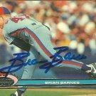 1991 Topps Stadium Club Brian Barnes No. 114 Autograph